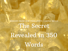 The Secret Revealed in 350 Words