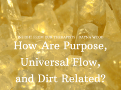 How are Purpose, Universal Flow and Dirt Related?