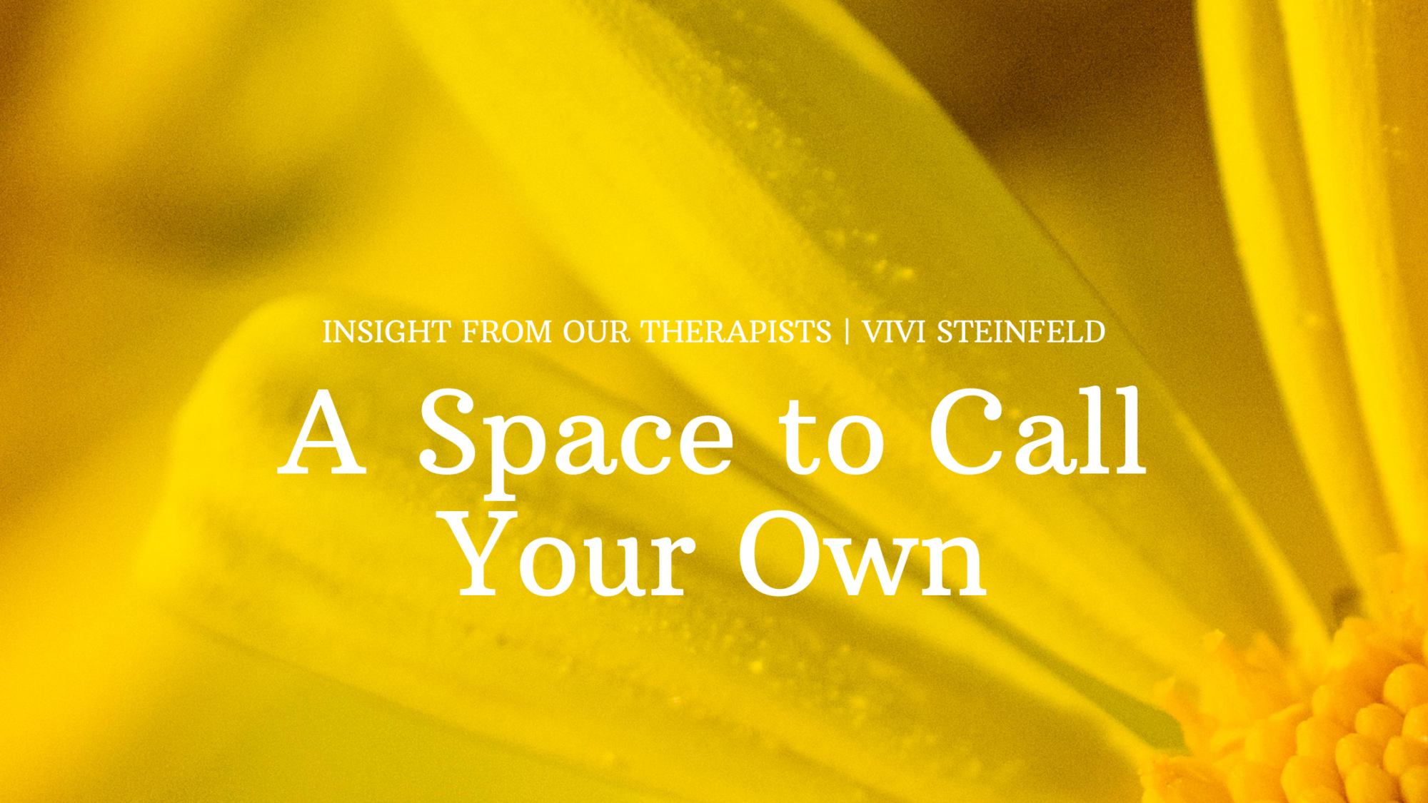 You are currently viewing A Space To Call Your Own